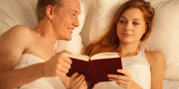 Couple Reading Sex Book Together